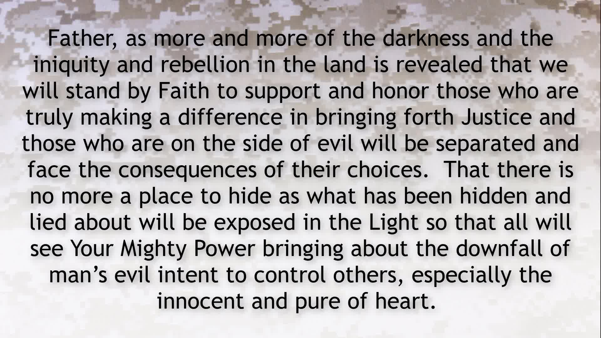 PRAYER FOCUS REPENT FOR ANY FORM OF REBELLION IN OUR HEARTS!