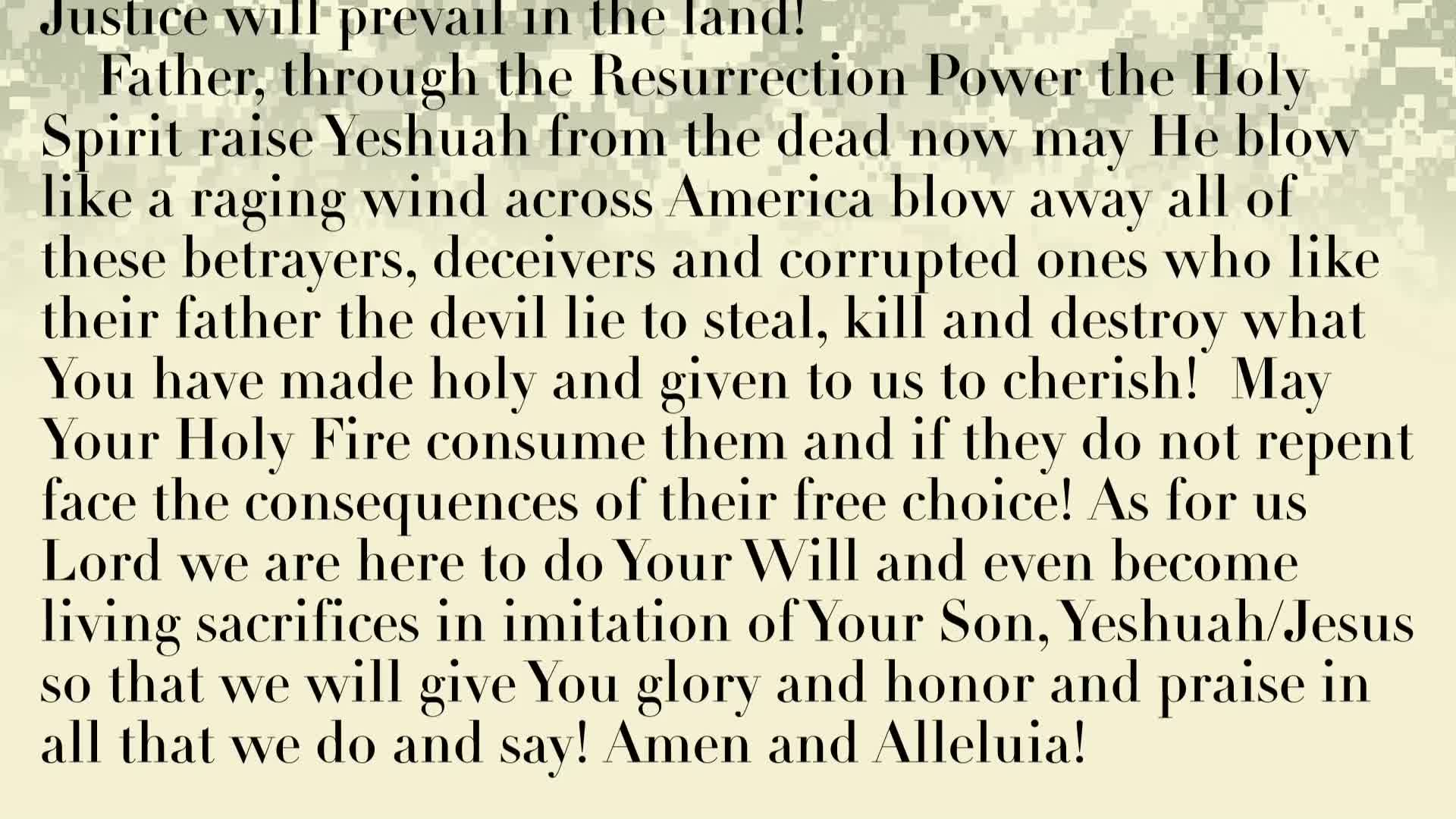PRAYER FOCUS: THE RESURRECTION OF JESS/YESHUAH PROVES THAT GOD IS ALWAYS WITH US AND WHAT HE PROMISES HE FULFILLS!